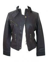 Elextra Plus Size Leather Motorcycle Jacket