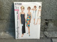 60's Simplicity 5729 Pattern Misses' Slip in Two Lengths - Size 12 Bust 32 by ElkHugsVintage on Etsy
