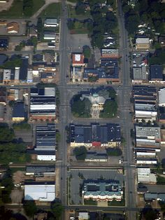 Aerial View of Downtown Athens, Alabama