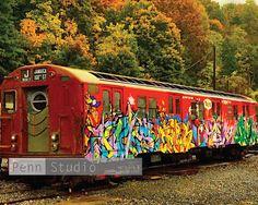 Train Wall Art Graffiti Art NYC Subway Train by DeanPenn on Etsy