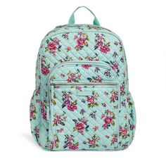 2a32b6c1a13b Vera Bradley Iconic Campus Backpack•Water Bouquet Vera Bradley Patterns