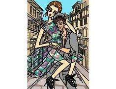 Loving this Gerardo Lareea illustration specifically for Dolce & Gabbana's Swide online magazine.