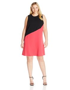 online shopping for Calvin Klein Women's Plus Size Color Block Asym Hem Tent Dress from top store. See new offer for Calvin Klein Women's Plus Size Color Block Asym Hem Tent Dress Trendy Plus Size Clothing, Plus Size Dresses, Dresses For Sale, Plus Size Outfits, Plus Size Fashion, Nice Dresses, Dresses For Work, Tent Dress, Womens Cocktail Dresses