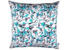 Handmade Double Sided Blue Marble Cushion from maxandrosie.co.uk