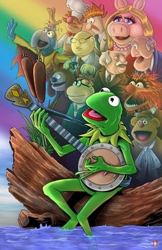 The Muppets by Wil Woods of Musetap Studios. Movie Poster Art, New Poster, The Muppet Show, The Muppets, Muppet Babies, Miss Piggy, Kids Tv Shows, Kermit The Frog, Jim Henson