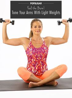 Low-Weights, High Reps: Feel the Burn With These Arm Exercises | FitSugar I did these after a Tae Bo video and definitely felt the burn!