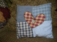 Shop for pillows on Etsy, the place to express your creativity through the buying and selling of handmade and vintage goods. Country Quilts, Quilted Pillow, Rag Quilt, I Shop, Upcycle, Pillows, Sewing, Creative, Blog