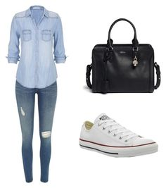 """""""Untitled #75"""" by erika-an ❤ liked on Polyvore featuring River Island, maurices, Alexander McQueen and Converse"""