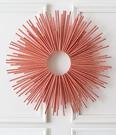 You will never believe how easy and cheap it is to create this eye-catching modern wreath.