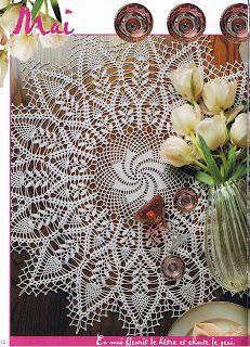 créations crochet: modèle de napperon                                                                                                                                                                                 Plus