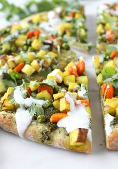 Vegetarian Samosa Pizza   thekitchenpaper.com