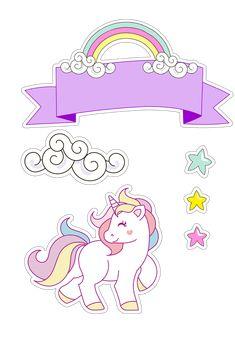 Resultado de imagen para topo de bolo unicornio
