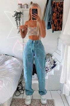 Adrette Outfits, Skater Girl Outfits, Indie Outfits, Teen Fashion Outfits, Retro Outfits, Look Fashion, 90s Fashion, French Fashion, Fashion Hacks