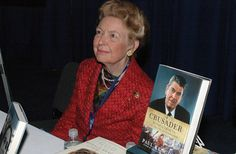 March 1, 2007--Conservative icon Phyllis Schlafly signed copies of her book Feminist Fantasies.