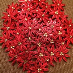 Quilled Red Poinsettias by all things paper, via Flickr