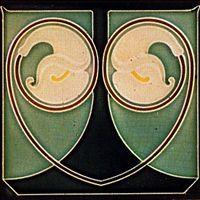 Germany, Bolzenburg 150 X 150 mm Art Nouveau tile, press moulded around 1910 Victorian Tiles, Antique Tiles, Vintage Tile, Antique Art, Vintage Art, Motifs Art Nouveau, Azulejos Art Nouveau, Art Nouveau Pattern, William Morris Art