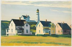 Edward Hopper / Lighthouse Village (also known as Cape Elizabeth) / 1929 /  The Cleveland Museum of Art
