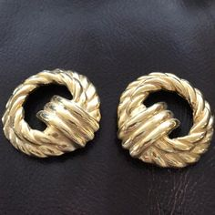 Beautiful Gold Clip On Earrings