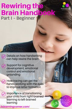 Handwriting Exercises: A little unknown secret for grounding your child's emotions #ilslearningcorner #teachers #handwriting #childdevelopment #tracing #finemotorskills #motorskills #handstrengthening #parentresources #specialeducation #emotionkids #handwritingexercises #handstrength #rewiringthebrain #attentionkids #focuskids #emotionalgroundingkids #visualperception #impulsecontrol #handeyecoordination #sensory Handwriting Exercises, Auditory Processing Disorder, Letter Formation, Right Brain, Math Facts, Learning Disabilities, Dyslexia, Comprehension, Parenting Hacks