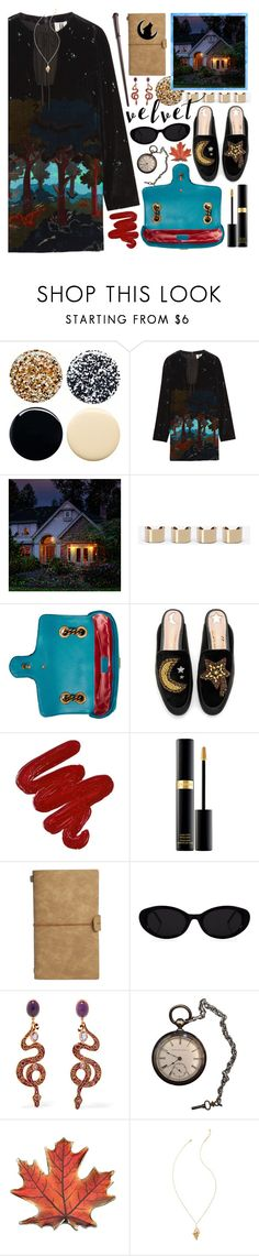"""enchanted forest"" by foundlostme ❤ liked on Polyvore featuring JINsoon, Topshop Unique, Improvements, Maison Margiela, Gucci, Sam Edelman, Obsessive Compulsive Cosmetics, Tom Ford, Diego Percossi Papi and Lilly Pulitzer"