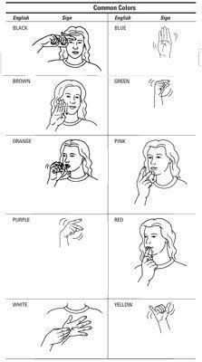 Colors Sign Language