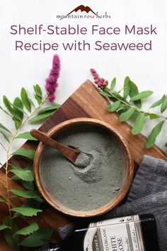Dry masks are some of the easiest homemade face masks to make. They also shine when it comes to maintaining freshness and a long shelf-life. This fully customizable seaweed mask created by aesthetician, Jenni Raincloud, can do wonders for your dry, oily, or combination skin types. And when you're ready to exercise some self-love, all you have to do is add the liquid of your choice.