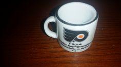 NHL Stanley Cup Crazy Mini Mug Philadelphia Flyers 1974 Champs https://treasurevalleyantiques.com/products/nhl-stanley-cup-crazy-mini-mug-philadelphia-flyers-1974-champs-w-opponent-score#NHL #NHLBruins #NHLFlyers #Boston #Philadelphia