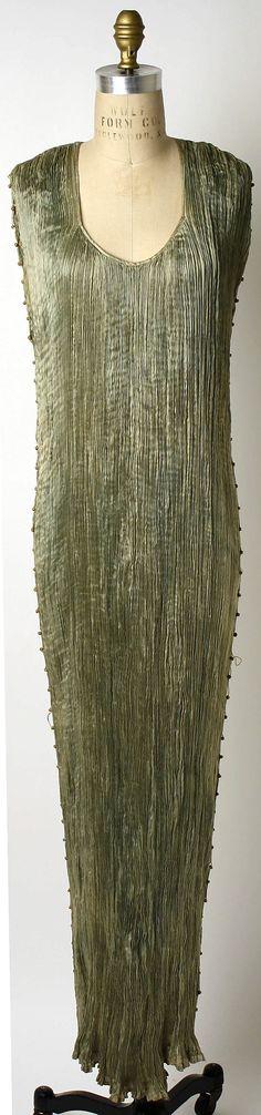 Evening dress Fortuny (Italian, founded 1906) Designer: Mariano Fortuny (Spanish, Granada 1871–1949 Venice) Date: 1939 Culture: Italian Medi...
