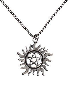 Supernatural Anti-Possession Symbol Necklace,
