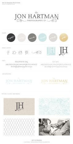 Jon Hartman Photography Brand by Salted Ink + Saffron Avenue #brand #businessbranding #brandboard #logo #design