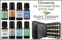 Giveaway: Plant Therapy Top 32 Essential Oil Set – $179.95 Value!
