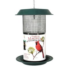 Decorative and functional the Plastic Magnum Sunflower Screen Feeder feeds more birds than any other feeder of comparable size.  Built to survive the elements metal mesh screen offers birds easy acc...