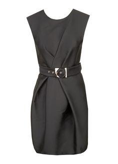 TARA JARMON Kleid mit Gürtel - schwarz - MONDIALmode