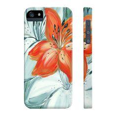 Tiger lily in orange - phone case