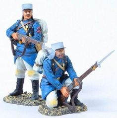 French Foreign Legion FFL018A Standing & Kneeling Ready wearing Kepis with Havelocks - Made by Thomas Gunn Military Miniatures and Models. Factory made, hand assembled, painted and boxed in a padded decorative box. Excellent gift for the enthusiast.