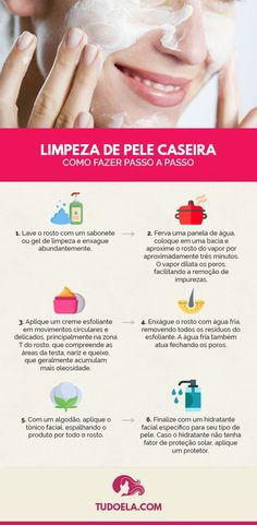 How to do a homemade skin cleansing? Learn the step by step! - cuidados com a pele - Beauty Beauty Care, Beauty Skin, Beauty Tips, Diy Beauty, Beauty Habits, Face Beauty, Beauty Products, Homemade Beauty, Beauty Ideas