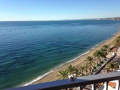 Amazing view! Balcony with panoramic view towards the ocean, beach, Puerto Banu   Holiday Rental in West Costa del Sol from @HomeAwayUK #holiday #rental #travel #homeaway