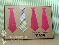Tutorial Thursday: Father's Day Tie Card