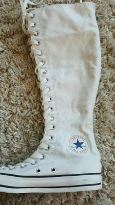 393a01221d8 Just bought a new pair of white knee high converse this will be my pair of white  knee high converse!