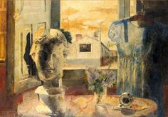 """Day,"" Antonio López García, 1958, oil on board, 26 3/4 by 37 3/8"", private collection."