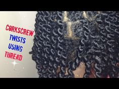 Twists with thread Mixed Girl Hairstyles, Twist Hairstyles, Hair Threading, Youtubers, Mixed Girls, Black Hair, Natural Hair Styles, Twists, Passion
