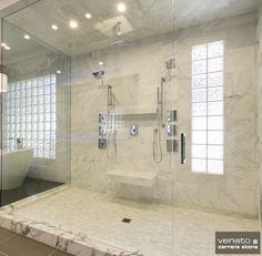 "Carrara Venato 12x24"" and 1x3"" Stacked Brick Honed Mosaic Tile"