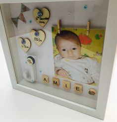 New Baby Gift Frame by RIVADesignsGifts on Etsy https://www.etsy.com/uk/listing/539337547/new-baby-gift-frame