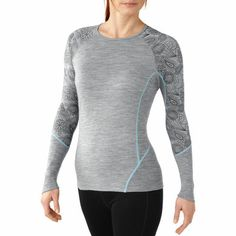 NTS Light 195 Crew: If you've been sitting on the fence about merino wool, now is the time to make the leap. Smartwool base layers can be worn solo when you're out working up a sweat, or wit Wool Fabric, Stay Warm, Merino Wool, T Shirt, Pullover, Sweatshirts, Long Sleeve, Prints, How To Wear