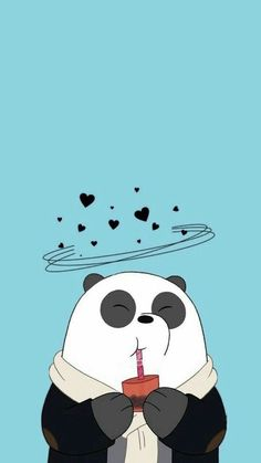 Image uploaded by Find images and videos about wallpaper, panda and we bare bears on We Heart It - the app to get lost in what you love. Cute Panda Wallpaper, Cartoon Wallpaper Iphone, Bear Wallpaper, Cute Disney Wallpaper, Kawaii Wallpaper, Cute Wallpaper Backgrounds, Iphone Backgrounds, Blue Wallpaper Phone, Mobile Wallpaper