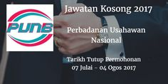 Perbadanan Usahawan Nasional Jawatan Kosong PUNB 07 Julai - 04 Ogos 2017  Perbadanan Usahawan Nasional (PUNB) calon-calon yang sesuai untuk mengisi kekosongan jawatan PUNB terkini 2017.  Jawatan Kosong PUNB 07 Julai - 04 Ogos 2017  Warganegara Malaysia yang berminat bekerja di Perbadanan Usahawan Nasional (PUNB) dan berkelayakan dipelawa untuk memohon sekarang juga. Jawatan Kosong PUNB Terkini 07 Julai - 04 Ogos 2017: 1. PRESS SECRETARY 2. EXECUTIVE - PROSPER RETAIL VENTURE (NORTHERN EAST…