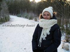 DIY: Armknitting-huivi // DIY: Armknitting scarf