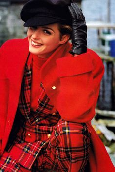 Don Miller for Flare magazine, September 1992. Plaid suit by Franco Mirabelli.