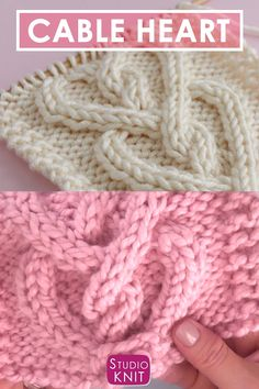 Love knitting up cable hearts! Get my Cable Heart Stitch Pattern for an interloc. Love knitting up cable hearts! Get my Cable Heart Stitch Pattern for an interlocking design in vert Love Knitting, Easy Knitting Patterns, Knitting Ideas, Free Scarf Knitting Patterns, Free Baby Blanket Patterns, Beginner Knitting Projects, Knitting Toys, Knitting Tutorials, Knitting Machine