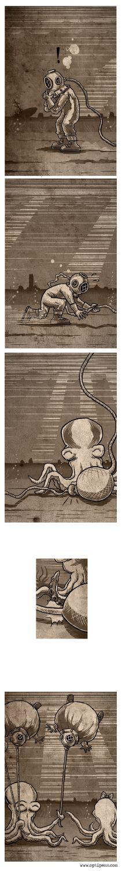 Octopus having fun Funny Art, Kraken, Octopus, Octopuses, Calamari